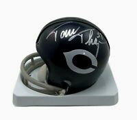 Chicago Bears Riddell Throwback Mini Football Helmet Autographed Tom Thayer & Je