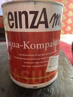 1 Liter Einza Mix Aqua Kompaktlasur Farbton siehe    Deckel  Restposten Nussbaum
