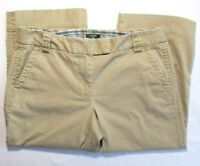 J Crew Womens Favorite Fit Capri Pants Stretch Sz 6 Khaki Chino Cropped Beige