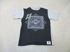 Vintage Los Angeles Kings Shirt Adult Large Black Gray Nhl Hockey La Mens 90s*
