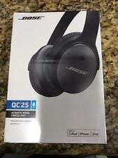 NEW Bose~QuietComfort 25 QC25 APPLE Noise Cancelling Headphones~Black SEALED