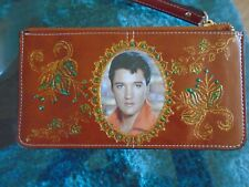 NEW  TAN   ELVIS PRESLEY   PICTURE PURSE/WALLET./IPHONE PLUS WITH WRIST STRAP