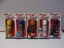5 StarWars Mega Lip Smackers Flavored Lip Balm C-3PO,R2-D2,Chewbacca,Darth Vader