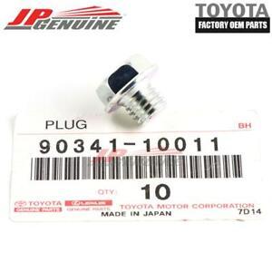 GENUINE TOYOTA LEXUS OEM TRANSMISSION DRAIN STRAIGHT SCREW PLUG 1PC 90341-10011