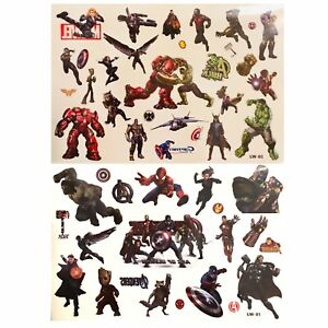 Super Heroe Temporary Tattoo Sheets stickers Children Kids Birthday Party Bag