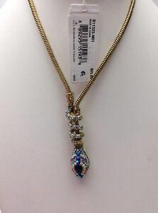 NWT Betsey Johnson Jewelry BETSEY BLUES Snake Lariat Necklace BB9