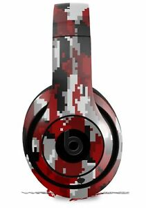 Skin for Beats Studio 2 3 Digital Camouflage Red
