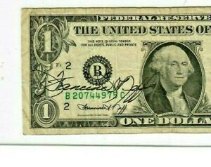 "$1 ""AUTOGRAPH"" 1974  (FRANCINE NEFF) ""AUTOGRAPH"" (FRANCINE NEFF) 1974 RARE!!!"