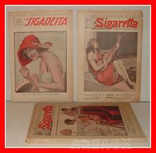 LA SIGARETTA annata completa XX NERBINI 1925 rivista erotica satira TOPPI