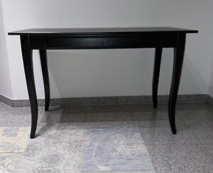Ikea Schreibtisch LEKSVIK - Desk, Black - 119x60 cm