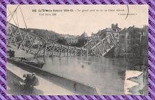 CPA - 60 - CREIL - El Gran puente de hierro destruido
