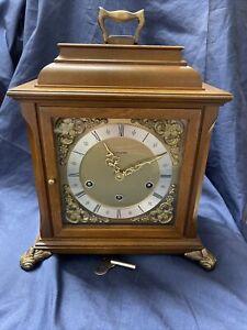 Junghans Tischuhr 4/4 Westminster Schlag Barock Stil Kaminuhr Stockuhr Vintage