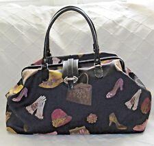 Raviani Black & Multi Brocade LG Carpet Doctor Travel Bag Satchel