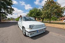 1988 Renault 5 GT Turbo Phase 2, Glacier White, Restored, OE+, MOT, Hot Hatch