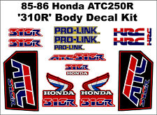 85-86 1985 1986 honda ATC 250R 2pc Fender vintage sticker decals logos 3 wheeler