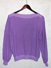 wildfox couture sweatshirt, baggy beach jumper, wide neck, new, purple, s. s