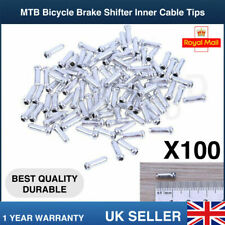 100PCS MTB BIKE BICYCLE BRAKE SHIFTER INNER CABLE TIPS WIRE END CAP CRIMPS UK