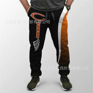 Chicago Bears Mens Sweatpants Casual Pants Jogging Fans Training Trousers S-5XL