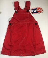 Vintage Popsicle Playwear Girls Red Overall Skirt Jumper Size 3T NWT Rare