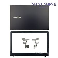 New Samsung NP470R5E NP510R5E LCD Back Cover Dark Blue W/ Front Bezel +Hinges