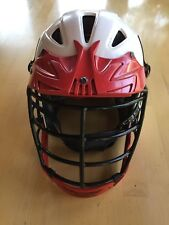 Cascade Clh2 Lacrosse Helmet, White / Red, Small