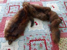 "Vintage Authentic ""Weasel"" Fur 45 Inch Long Entire Body Wrap Stole"
