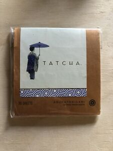TATCHA Aburatorigami Japanese Beauty Papers 30 Sheets Abaca Leaf & Gold Flakes