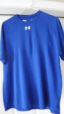Under Armour Blue Short Sleeve Gym Workout shirt size Large Preowned