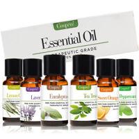 6 PCS 10ml Essential Oils Kit Set 100% Pure Aromatherapy Oils Fragrance Aroma