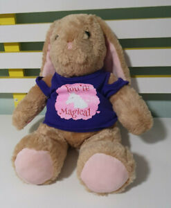 BUILD A BEAR BUNNY RABBIT PLUSH TOY SOFT TOY 36CM TALL YOU'RE MAGICAL SHIRT BAB