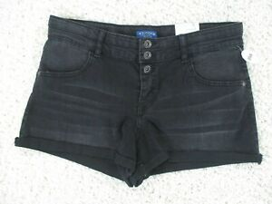 Arizona Shortie Plus Size Cuffed Black Shorts Womens 18 1/2  NWT New