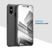 Mirror Flip Case For Vivo V9 Y83 /Huawei P10 P30 Slim Leather Stand Phone Cover