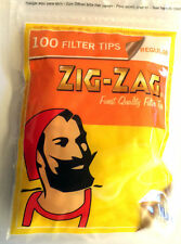 4 X Wiederverschließbare Beutel Von Zig Zag Regulär Zigarette 7mm Grob Smokers