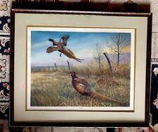 "Virgil Beck Matted Framed Print Early Flush Pheasants 32 1/4 x 26 1/2"""