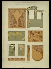 DECORATIONS CUIR REPOUSSE, MAURICE DUFRENE -1906- LITHOGRAPHIE, ART NOUVEAU