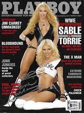 Torrie Wilson Signed March 2004 Playboy Magazine BAS Beckett COA WWE Autograph