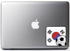 "South Korean Flag Soccer Fan Full Color - Vinyl Decal for 13"" Macbook"