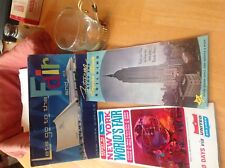 VTG LOT OF 1964-65 NY WORLDS FAIR PAMPHLETS UNITED AIRLINE AND CUP EMPIRE