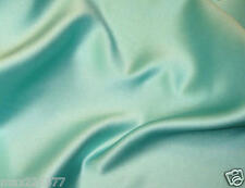 polyester satin charmeuse bridal wedding decor crafts costume sew yards AQUA