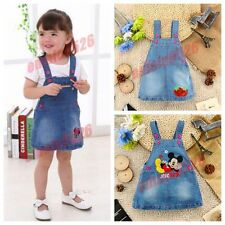 1Pc Kids Girls Toddler Baby brace Jean Dresses summer clothes baby party Dresses