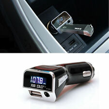 3In1 Car Charger Wireless Handsfree USB FM Transmitter LCD MP3 Player With AUX