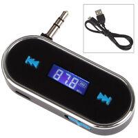 Universal FM Transmitter Radio Adapter Handsfree for Car LCD 3.5mm Audio jack BK
