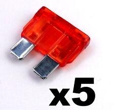 5x Rojo 10a 10amp Estándar ATO Escobilla Fusible para 12v/24v coche,