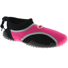 PDQ Unisex Aqua and Beach Waterproof Water Shoes Small Kids UK 11 / EU 29 Black/fuchsia Textile