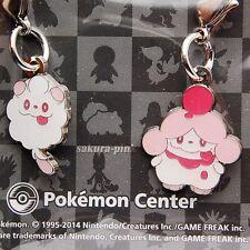 Swirlix Slurpuff Very Cute!! Pokemon Center Limited Metal Charm Authentic Japan
