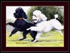 English Picture Print Miniature Poodle Dog Dogs Puppy Puppies Vintage Poster