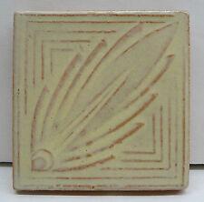 S & L Vintage Art Deco Leaf Tile/White