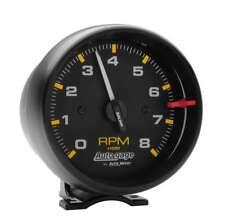 "Auto Meter 2300 Gauge Tach 3 3/4"" 8,000 RPM Pedestal Black Dial Auto Gage"