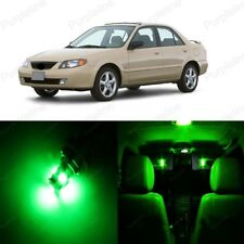 9 x Green LED Interior Light Package For Mazda Protege 1999 - 2003 + PRY TOOL