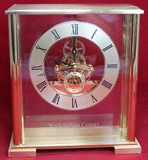 Howard Miller 645-622 Fairview Table Clock - Skeleton - Desk Mantel - Quartz